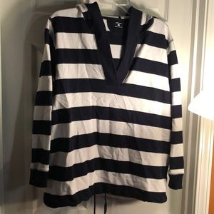 Nautical styled hooded sweatshirt